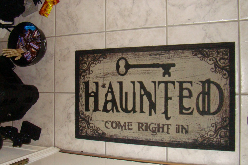 welcome mat, haunted